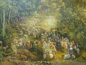 Sử thi bằng hội họa với 4.500 nhân vật 描繪4500個人物的《奠邊府》繪畫作品亮相